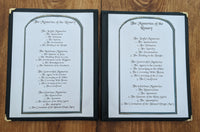 Rosary Prayers in English, 8 Page set, Digital File, Printable