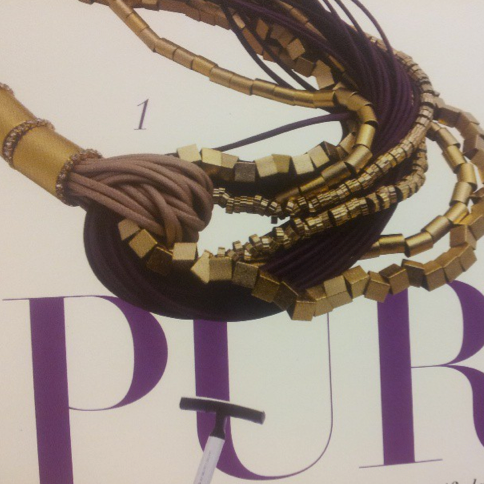 Our Beautifull Purple necklace featured in the press