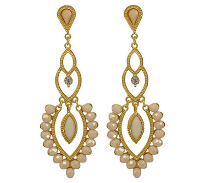 Maharaja White Earrings