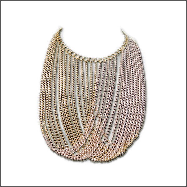 Pink Overlap Necklace