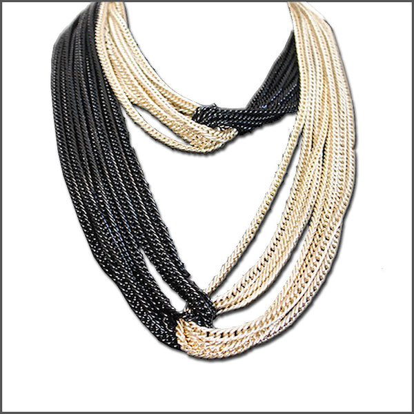 Knotted Noir Necklace