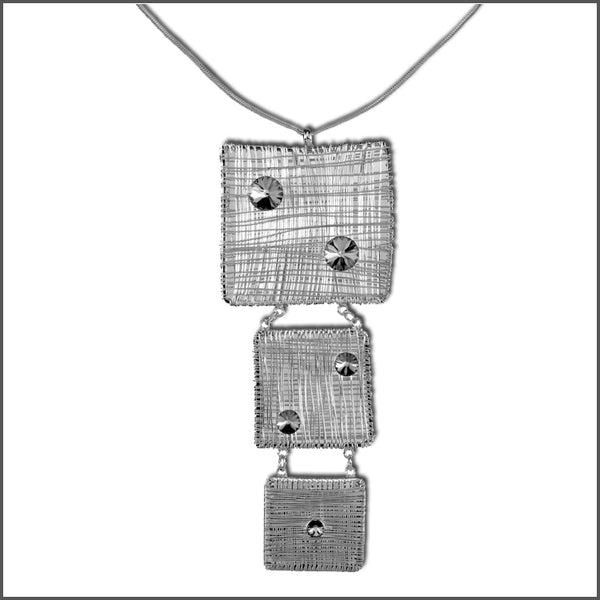 Meshed Up Pendant Silver
