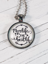 "Load image into Gallery viewer, Mom's Life is the Best Life Necklace with 24"" chain - Simply Blessed"