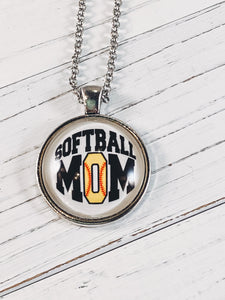 "Softball Mom Necklace with 24"" chain - Simply Blessed"