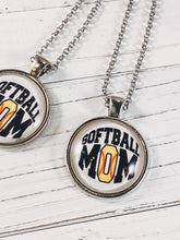 "Load image into Gallery viewer, Softball Mom Necklace with 24"" chain - Simply Blessed"