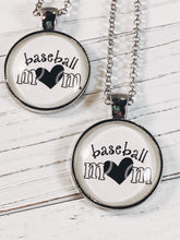 "Load image into Gallery viewer, Baseball Mom Necklace with 24"" chain - Simply Blessed"