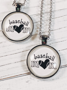 "Baseball Mom Necklace with 24"" chain - Simply Blessed"