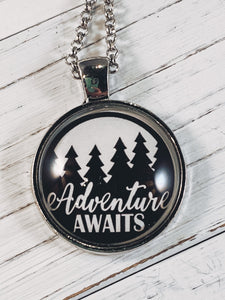"Adventure Awaits Necklace with 24"" chain - Simply Blessed"