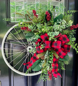 Wintery Christmas Bicycle Wreath - as seen in COUNTRY SAMPLER magazine - Simply Blessed