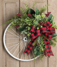 Load image into Gallery viewer, Wintery Christmas Bicycle Wreath - as seen in COUNTRY SAMPLER magazine - Simply Blessed