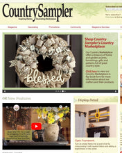 Load image into Gallery viewer, Farmhouse Cotton Blessed Burlap Wreath - as seen in COUNTRY SAMPLER magazine - Simply Blessed