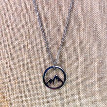 Load image into Gallery viewer, Stainless Steel Mountain Silhouette Pendant and Chain - Simply Blessed
