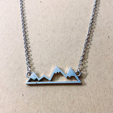 Load image into Gallery viewer, Silver Mountain Silhouette Pendant and Chain - Simply Blessed