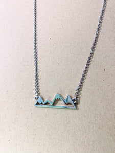 Silver Mountain Silhouette Pendant and Chain - Simply Blessed