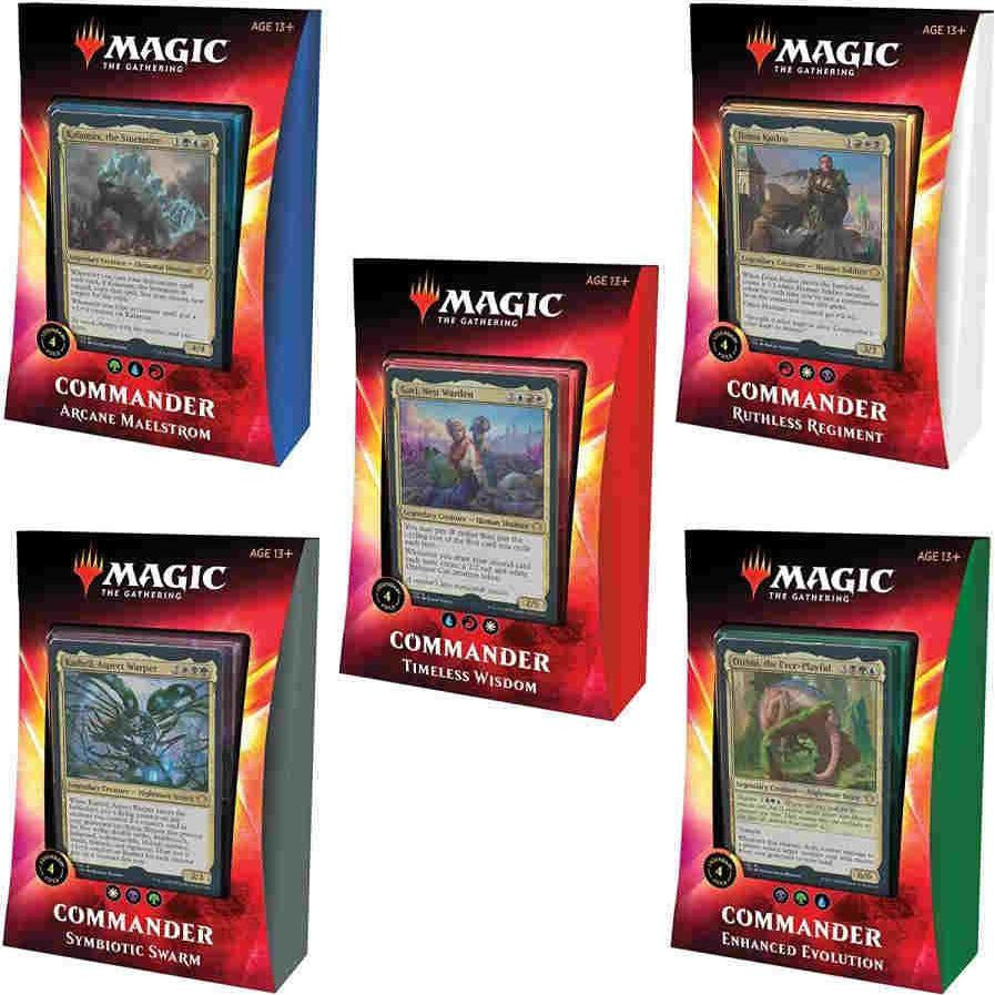 Magic the Gathering Ikoria: Lair of Behemoths - Commander Set of 5 Decks