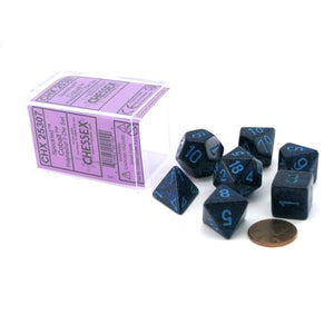 Polyhedral 7-Die Borealis Chessex Dice Set - Speckled Cobalt