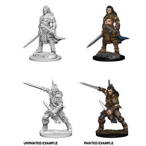 Pathfinder Deep Cuts Unpainted Miniature: Human Male Fighter - WAVE 1