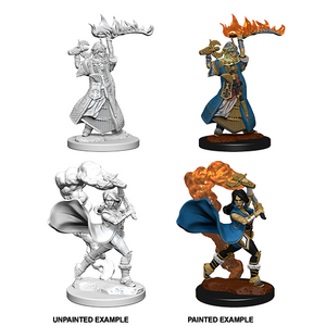 Pathfinder Deep Cuts Unpainted Minis: Human Female Cleric - WAVE 1