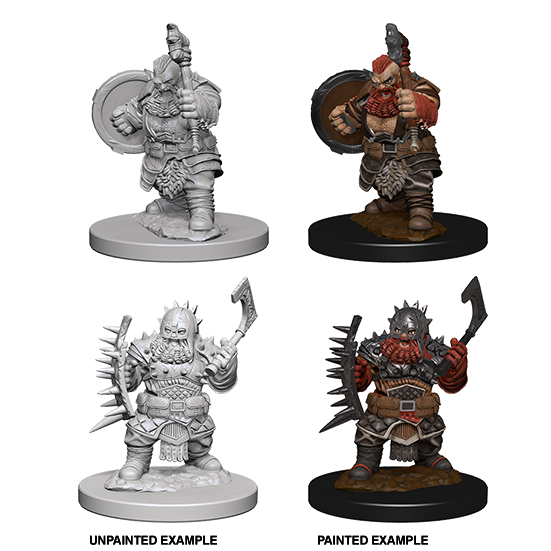 Pathfinder Deep Cuts Unpainted Miniatures: Dwarf Male Barbarian - WAVE 4