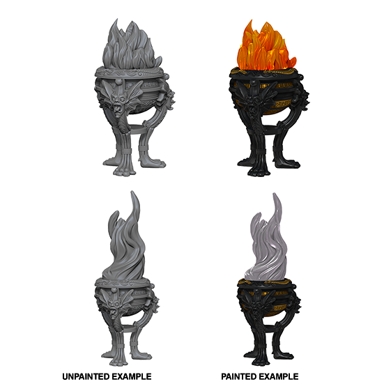WizKids Deep Cuts Unpainted Miniatures: Braziers - WAVE 4