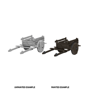 WizKids Deep Cuts Unpainted Miniatures: 2 Wheel Cart - WAVE 4