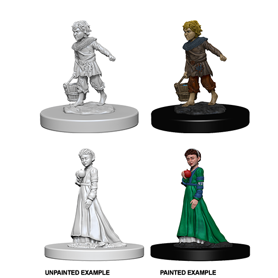 Pathfinder Deep Cuts Unpainted Miniatures: Children - WAVE 4