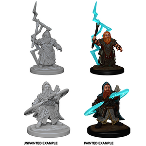 Pathfinder Deep Cuts Unpainted Miniatures: Dwarf Male Sorcerer - WAVE 4