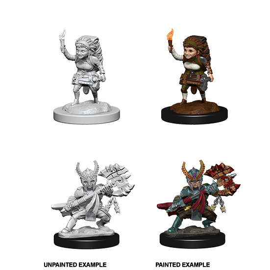 D&D Nolzur's Marvelous Miniatures: Halfling Fighter Female - WAVE 6