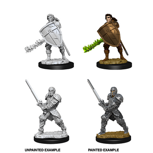 D&D Nolzur's Marvelous Miniatures: Human Fighter Male - WAVE 8