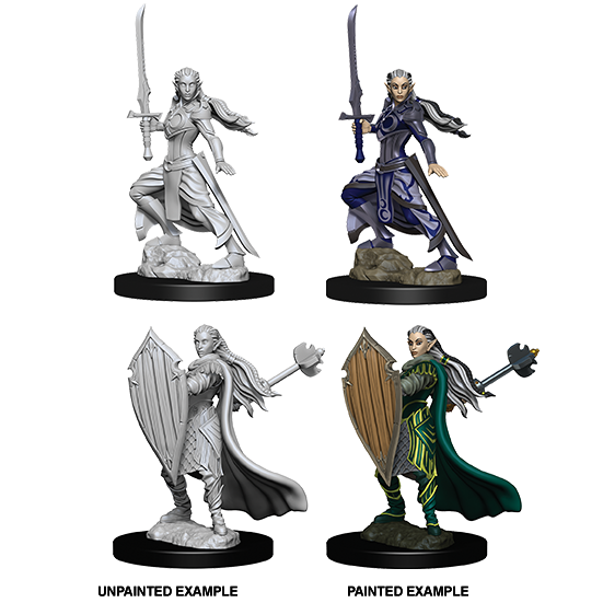 D&D Nolzur's Marvelous Miniatures: Elf Paladin Female - WAVE 9