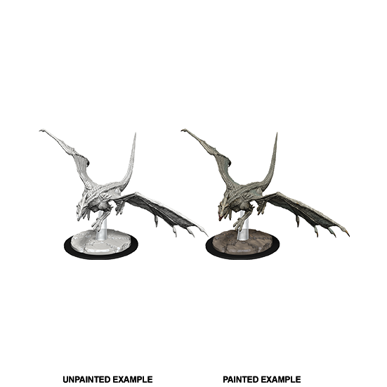 D&D Nolzur's Marvelous Miniatures: Young White Dragon - WAVE 9