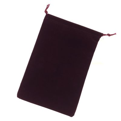 Large Burgundy Suedecloth Dice Bags