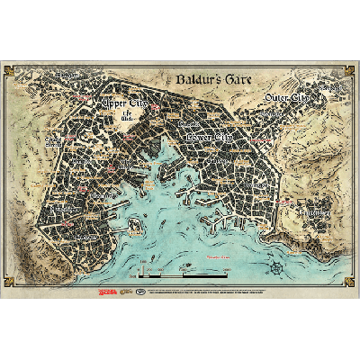 Dungeons & Dragons 5th Edition - Baldur's Gate Map