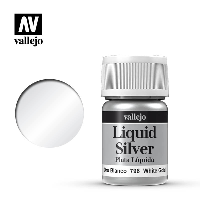 Vallejo 35ml Liquid Gold - White Gold # 70796