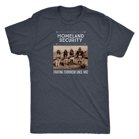 Homeland Security T-Shirt - Next Level Triblend (White Text)