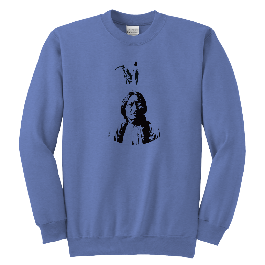 Youth Sitting Bull Crewneck Sweathshirt