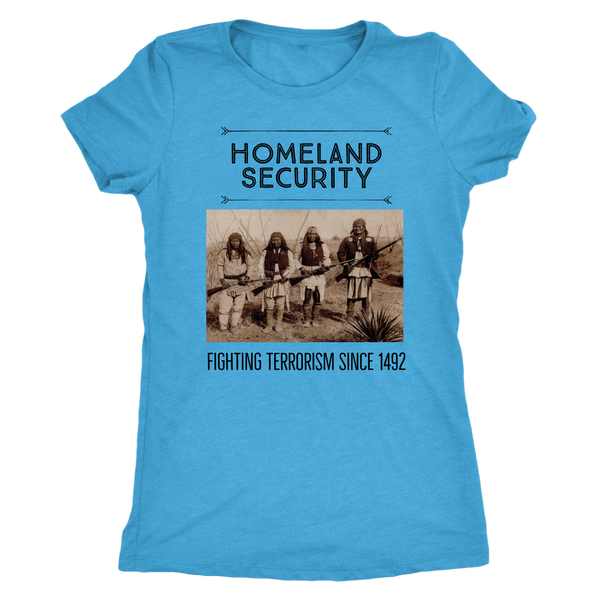 Homeland Security T-Shirt - Next Level Triblend (Black Text)