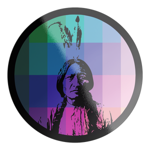 Sitting Bull Rainbow Sticker