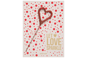 Wondercandle-  Let Love sparkle red points Mini