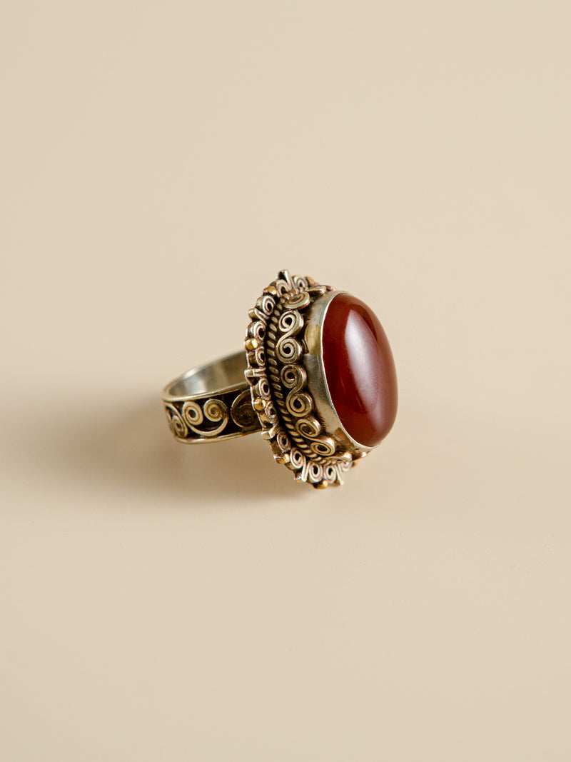 Agate Ring Halloween Gift