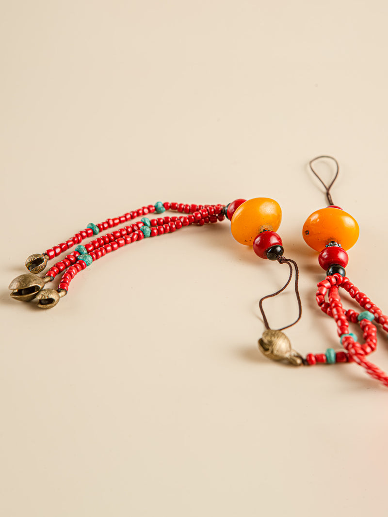Traditional handmade car mirror hanging, ethnic characteristics, Christmas gifts for friends.