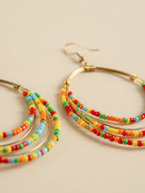 Colored Beads Earrring