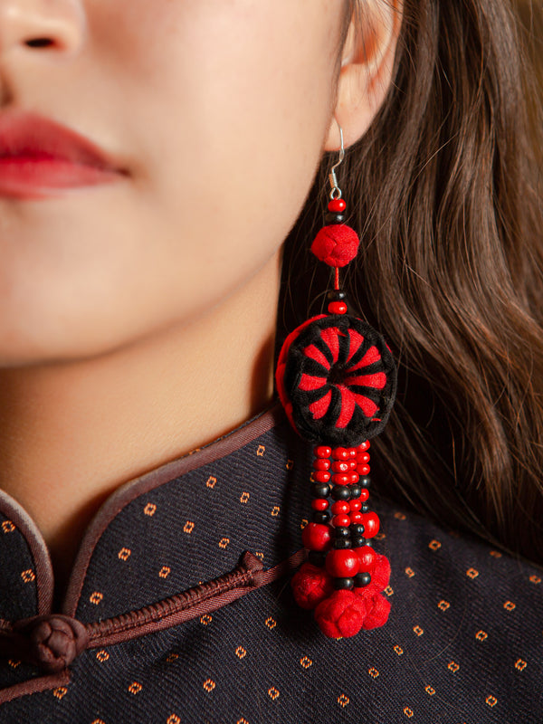 Traditional handmade earrings, ethnic characteristics, a holiday gift for yourself.