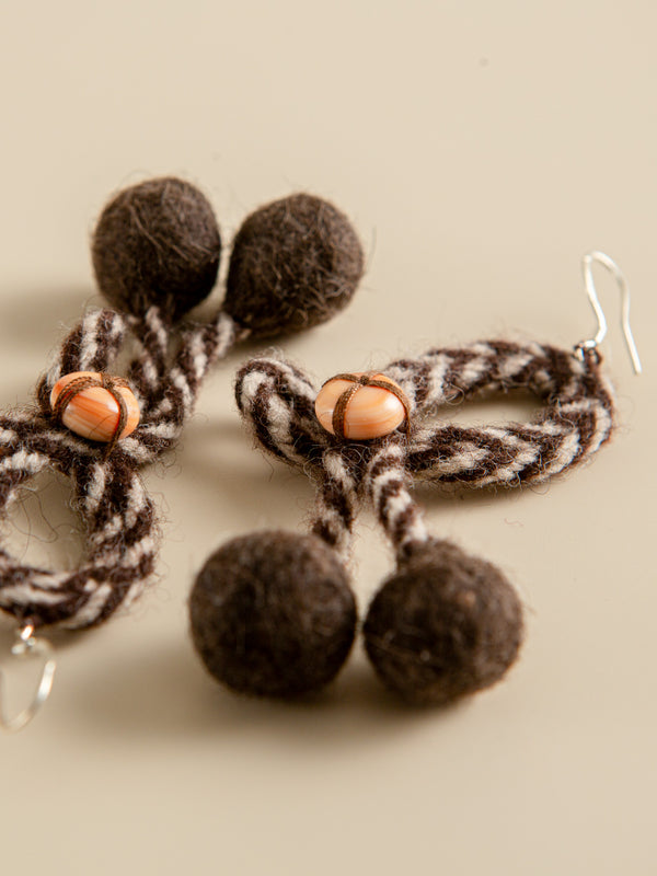 A gift from nature, pure and simple, traditional handmade earrings.