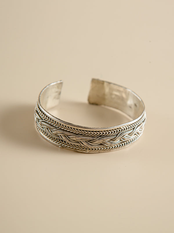 Cupronickel Silver Bangle  Handcrafted