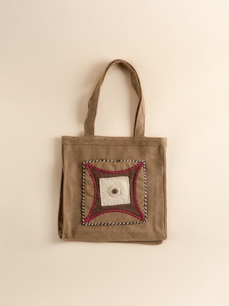 Traditional craft canvas bag, prairie style, fashionable and practical.