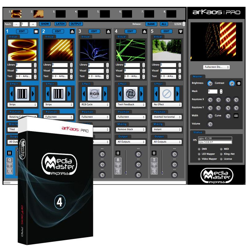 ADJ ArKaos Media Master Express (Boxed)