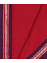 Load image into Gallery viewer, DHALA PHATAR Cotton Sari - Bright Red