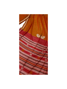 DHALA PHATAR Cotton Sari - Orange