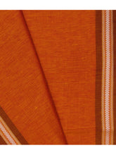 Load image into Gallery viewer, DHALA PHATAR Cotton Sari - Orange
